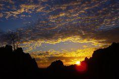 Amazing Sunset Over Smith Rock, Smith Rock State Park, Terrebonne, Oregon, United States