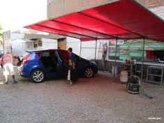 Remato toldo y estructura para lavado autos