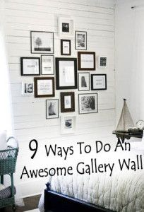 9 Ways to do an awesome gallery wall