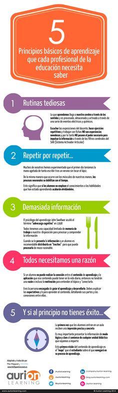 Fuente│Raúl Santiago: 5 Principios básicos de aprendizaje que cada profesional de la educación necesita saber
