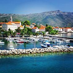 Orebic, Croatia. Orebić is a port town and municipality in the Dubrovnik-Neretva county. It is located on the Pelješac peninsula on the Dalmatian coast. (V)