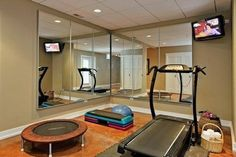 Simple workout room! Needs area for weights