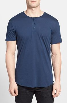 Free shipping and returns on The Rail Short Sleeve Henley T-Shirt (2 for $40) at Nordstrom.com. A three-button henley placket tops a supersoft cotton-and-modal blend T-shirt cut in a trim, modern fit.