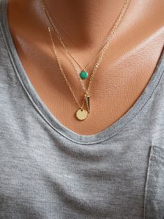 "Spike Pendant Necklace, 17"" 14K Gold-Filled Chain"