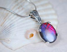 Ammolite pendant.Collector grade 16x12mm.Very Rare. ** - Ammolite Jewelry From Canada