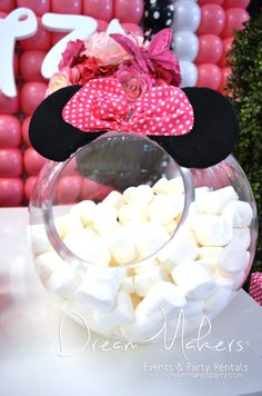 Minnie Mouse Polka Dots 1st Birthday | CatchMyParty.com