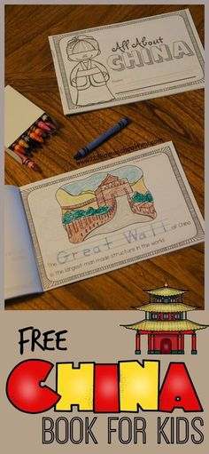 FREE Facts About China Book for Kids - two choices (Preschool / Kindergarten) with simpler text and trace key word or 1st-6th grade with more information. Perfect for homeschool or classes studying china in geography. LOVE THIS!!