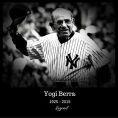 """RIP #yogiberra  #sportsday #baseball #baseballlife #yankees #yankeesfan #yankeesallday #yankeesforlife #legend #legendsofbaseball  @sportsbarker"" Photo taken by @sportsbarker on Instagram, pinned via the InstaPin iOS App! http://www.instapinapp.com (09/23/2015)"