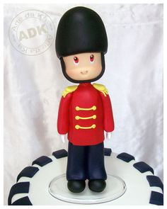 Toy soldier sugar figurine
