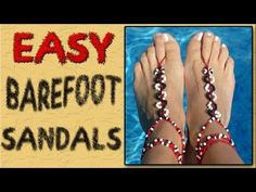 How lovely these barefoot sandals are! They make your beautiful feet even more sexier. Making a pair of DIY barefoot sandals are simple, and there are many Jewelry Clasps, Diy Jewelry, Beaded Jewelry, Jewelry Making, Jewlery, Barefoot Sandals Tutorial, Crochet Barefoot Sandals, Making Jewelry For Beginners, Micro Macramé