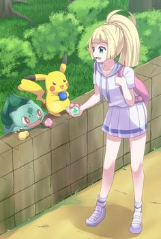 Lillie in Kanto Pokemon Waifu, Pokemon Alola, Cute Pokemon, Panda Anime Girl, Female Pokemon Trainers, Alex Craft, Strongest Pokemon, Pokemon Super, Pokemon Collection