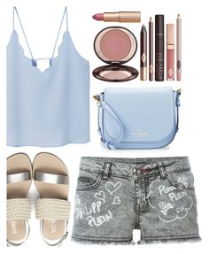 """summer"" by ecem1 ❤ liked on Polyvore featuring MANGO, Philipp Plein, Kate Spade, Charlotte Tilbury and summersandals"