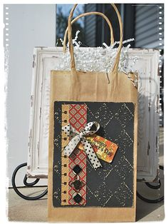 Gift bag from Core'Dinations blog! #graphic45 #core'dinations #giftwrap #DIY