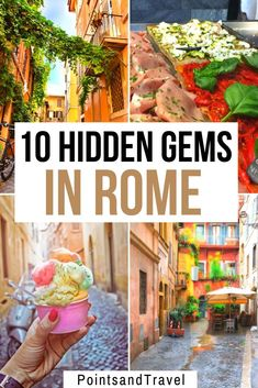 Hidden Gems in Rome - Discover the Secrets of an Ancient City - 10 Hidden Gems In Rome You Must See! Looking for secret spots and delicious food in Rome? Check out my list of hidden gems in Rome and visit Rome off the beaten path! Italy Travel Tips, Rome Travel, Budget Travel, Travel Checklist, London Travel, Travel Photographie, Voyage Rome, Rome Food, Best Food In Rome