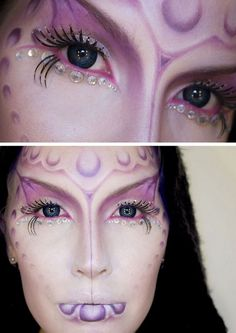 DIY Inspiration: Glam Alien Queen from Sandra Holmbom here.At the link there are more photos and a list of supplies she u...