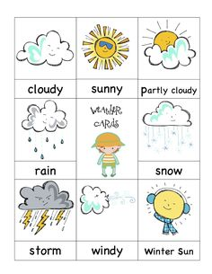 preschool weather signs | ... teachersnotebook com product preschoolprintable weather friends cards