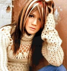 Chunky Highlights- This was the sought after hair color of the early 2000s. Chunky highlights were also referred to as zebra hair.