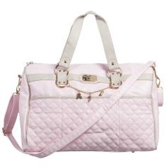 May Newborn Pale Pink Synthetic Leather Baby Bag 43cm Childrensalon