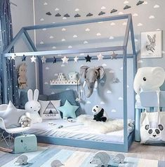 ideas decoracin infantiles decoracin infantil con nubes de vinilo https