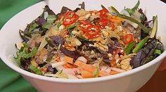 Luke Nguyen's Noodle salad (bun bo xao) recipe : SBS Food