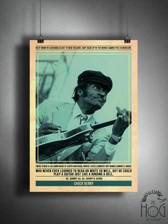 Chuck Berry  citar Poster Retro  serie leyendas de la música