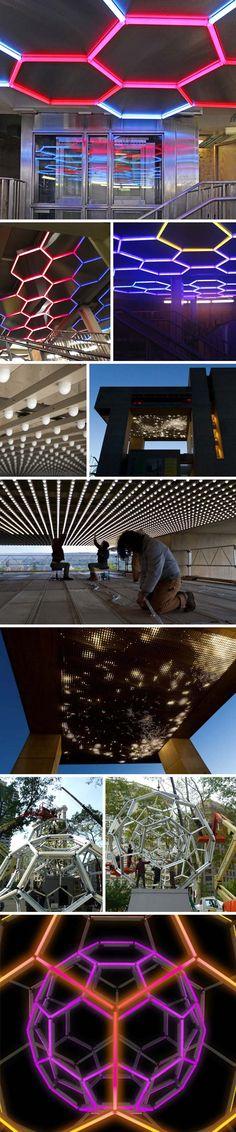 Leo Villareal: Hive, Cosmos, &Buckyball