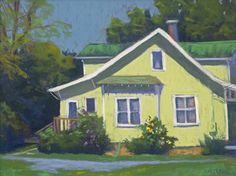 "House with Sunflower by Jean Hirons Pastel ~ 12"" x 16"""