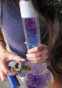 weed marijuana ganja cannabis bong pot herb high psychedelic space galaxy bud stoner thc bong rips cool bongs trippy bong galaxy bong