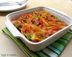 Conchiglioni ripieni di broccoli e salsiccia