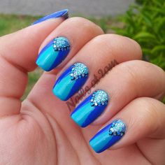 nailsat2am:  In my entire nail polish stash, blue is the colour...