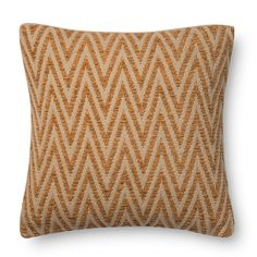 Alexander Home Woven Chevron Feather and Down Filled or Polyester Filled 22-inch Throw Pillow or Pillow Cover (Polyester Filled - Grey), Size 22 x 22