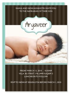 Paper Couture   Personal Stationery And Themed Party Printables: Hindu Naming  Ceremony Invitations