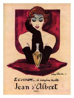 Vintage French parfum ad.