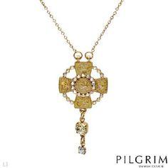 NEW PILGRIM SKANDERBORG, DENMARK Crystal Enamel Necklace