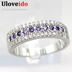 Find More Rings Information about 50% Off New 2015 Trendy Wholesale Wedding Silver Ring Yellow Crystal Jewelry Party Women Rings a Gift Accessories Ulove Y014,High Quality jewelry boutique,China jewelry message Suppliers, Cheap jewelry locket from ULOVE Fashion Jewelry on Aliexpress.com
