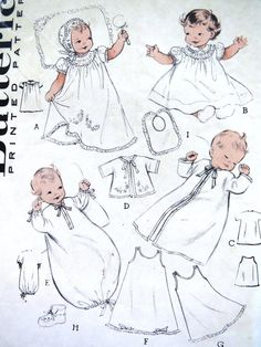 89 best vintage sewing patterns images in 2019 vintage sewing Sweaters for Women 60 Style butterick christening gown pattern 6425 infant baby dress bonnet slip booties nightgown layette one size baptism gown diy sewing