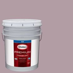 Glidden Premium 5 gal. #HDGR11D Soft Mauve Satin Interior Paint with Primer