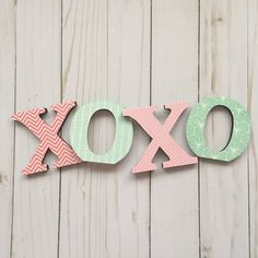 XOXO Letters https://www.etsy.com/listing/236291712/xoxo-letters-coral-decor-mint-nursery