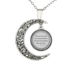 Moon Shakespeare Quote Necklace Quote Jewelry Shakespeare Quote Pendant Gift #Handmade #Charm