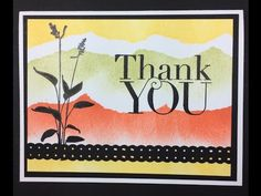 video tutorial: Masking Technique Stampin' Up! - YouTube ... quick and easy landscape lines with torn Post-It an sponging ...
