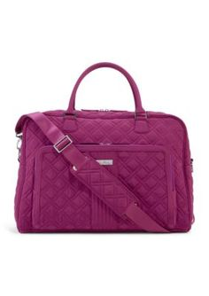 This roomy carry-on travel bag offers both organization and flexibility all in a sleek microfiber shell.