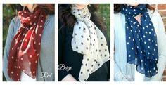 Polka Dot Chiffon Scarves – 5 Colors Options! | Jane