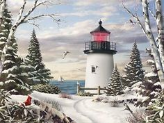 Lighthouse Christmas Cards, Nautical Christmas Cards and Holiday Cards are sure to brighten up the holidays for every lighthouse enthusiast on your list. These wonderful illustrations depict the warm glow of the holidays. Unique Christmas Cards, Nautical Christmas, Personalised Christmas Cards, Beach Christmas, Christmas Scenes, Christmas Pictures, Christmas Art, White Christmas, Holiday Cards