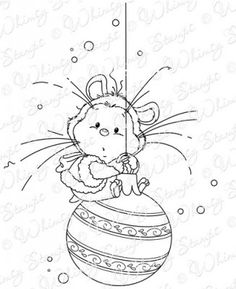 XMAS HAMSTER by Sylvia Zet for Whimsy Stamps