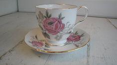 Vintage Paragon China Pink Rose Tea Cup Saucer Demitasse by CraftySara on Etsy