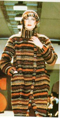 Missoni 1980 - Giaccone in maglia bouchè con berretto coordinato