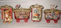 Circus Train Car made from altoid tins- check out all the different ones on the link- amazing! Circus Activities, Circus Crafts, Circus Art, Circus Theme, Altered Tins, Paper Art, Paper Crafts, Paper Quilt, Dioramas