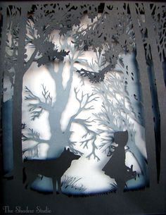 Fairy Tale Mood-- do this around a big glass jar/candle holder to project the shadows on the walls.
