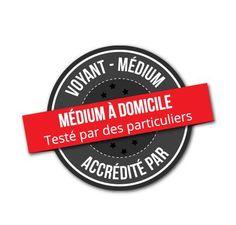Logo de www.mediumadomicile qui donne du crédit à des voyants voulant se faire tester par 3 particuliers lambda.