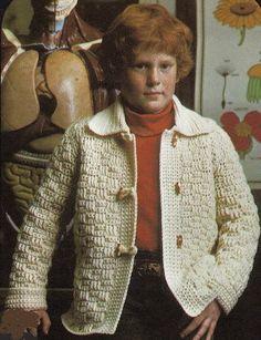 Children's Sweater Patterns – Crochet Toggle Jacket – Grandmother's Pattern Book